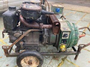 lister petter welder generator 12.75hp stick welders 240 110 volts genset diesel
