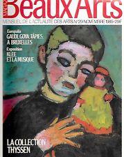 Beaux Arts 11-1995 / Gaudi Goya et Tapies à Bruxelles, Klee et la musique