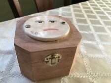 """Wooden Worry Box 4-1/2"""" x 5"""" with Whimsical Tile on Top"""