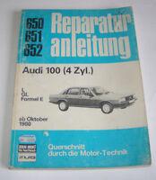 Originale Auto Reparaturanleitung Audi 100 L / GL / Formel E - ab 1980