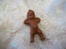 Vintage Two Inch Native American Baby Papoose Doll Hard Plastic