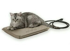 """K&H Pet Products Lectro-Soft Outdoor Heated Pet Bed Small Tan 14"""" x 18"""" 20W Note"""