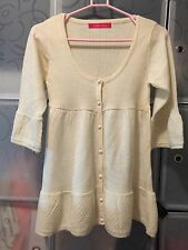 Pinky Girls Ivory / Off White Knit Cardigan Size 8