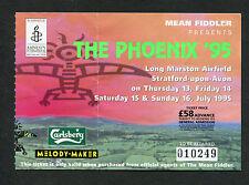 1995 Bob Dylan Suede The Verve  Faith No More Public Enemy Concert Ticket Stub