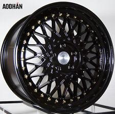 Aodhan Ah05 18X8.5 5X114.3 +35 Black Rims Fits Crz Rx8 Eclipse TL Tsx