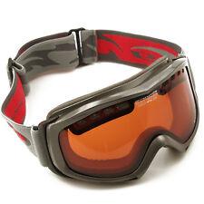 Skibrille Snowboardbrille orangene Scheibe kontrastverstärkend Skifahren