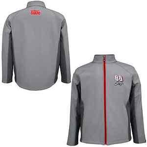 Dale Earnhardt Jr 2014 Chase #88 National Guard Gray Full Zip Soft Shell Jacket