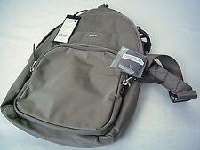 $225 TUMI Brive Sling Backpack Khaki Nylon with Leather Trim