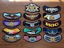 Harley Davidson Patch Set Lot 1985 - 1999 HOG Notched Vintage 1986 1987 1988 89