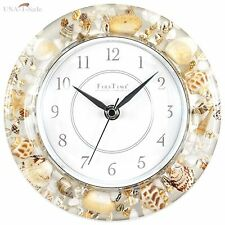 Sands of Time Wall Clock Home Bedroom Bathroom Decor Real Sea Shells