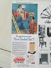1953 Lennox air conditioning can your home past the floor Comfort test ad