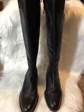 Arturo Chiang Women's Leather Dareen Riding Boots Black Size 8M