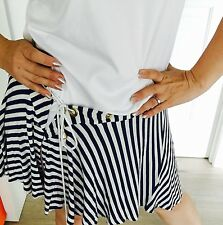 CHARLIE BROWN WOMENS WRAP SKIRT VISCOSE ELASTANE BEACH SUMMER STRIPED SZ M