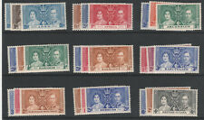 OMNIBUS 5883 - 1937 CORONATION CROWN COLONIES COMPLETE 45 sets of 3 u/m
