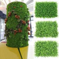 60x40cm Artificial Plant Wall Fence Greenery Panel Foliage Hedge Grass Mat Decor