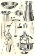 DAIRY APPLIANCES. Milk Plate Strainer scale. Butter Scoop Beater Mould 1912