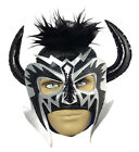 PSICOSIS (pro-fit) Adult Lucha Libre Halloween Wrestling Mask - Black/Grey