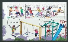 """NEW ZEALAND 2016 HEALTH STAMPS """"BEING ACTIVE"""" FINE USED MINIATURE SHEET"""
