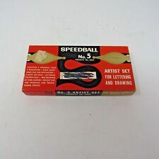 Vintage SPEEDBALL #5 2 Pen Holders and 8 Nibs in Box