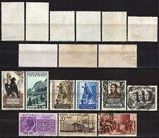 #2181 - Repubblica - Lotto di 9 francobolli (filigrana lettere parziale) - Usati