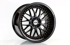 18x9.5 +22 Inch ESR Sr01 5x120 Gloss Black Wheels Rims BMW E38 E46 E90 E92 M3