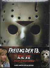 Friday The 13th Part 7 - Blu Ray & Dvd + Mediabook - 3 Discs !