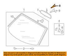 AUDI OEM 05-09 A4 Quattro Windshield-Mirror Inside Upper Cover 4F0857593G4PK