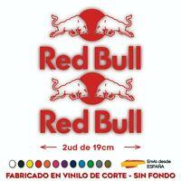 2x RED BULL PEGATINAS VINILO SPONSOR LOGO TORO BULL VINYL ADHESIVO CORTE MOTO