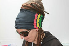 Rasta stripes Dreadlock Headband/dread sock/wrap -Lightweight, soft, comfortable