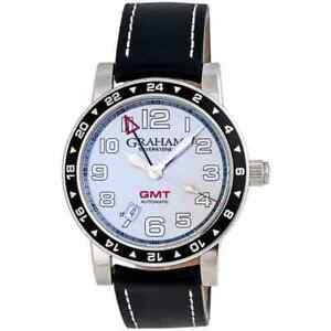 GRAHAM SILVERSTONE TIME ZONE GMT AUTOMATIC MEN'S WATCH 2TZAS.S01A, MSRP: $4,595