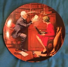 Norman Rockwell Plate - The Professor- 1986 Heritage Collection