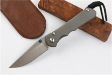 New CNC Full CR TITANIUM Handle S35vn Blade Sebenza 25 Style Folding knife KF-11
