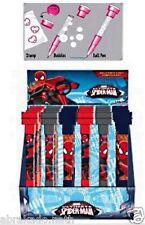 1 STYLO 3 EN 1 SPIDERMAN STYLO TAMPON BULLE DE SAVON PAPETERIE