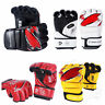 Boxing Gloves MMA UFC Sparring Grappling Fight Training Punch Bag Mitts Leather