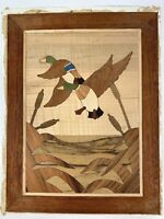 Mid-Century Constantine's Masterpiece Marquetry Wood Picture Kit Ducks - Rare!