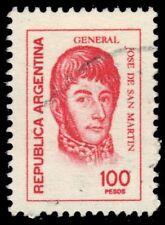 "ARGENTINA 1104  (Mi1317) - Jose de San Martin ""1977 Rose Red"" (pf22097)"