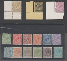 GB KGV 1912-24 Royal Cypher SG 351-396 Set of 15 Inc 9d Green UMM MNH