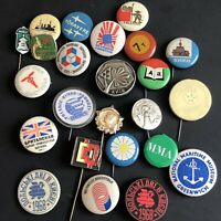 Lot of 24 Random USSR Lapel Pins Pinbacks Vintage Foreign Country Cuties Events