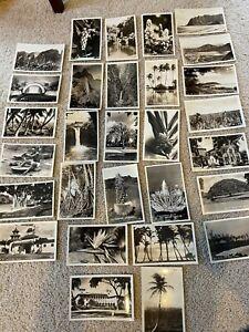 LOT OF 29 RPPC POSTCARDS  ALL HAWAII  c1935-1940  BLDGS.  BEACHES  THEATER +++