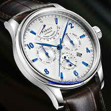 Parnis 42mm Miyota 9100 Automatic Movement Sapphire Glass Power Reserve Watch