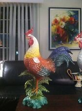LAST ONE !!!!!INTRADA Italian Ceramic Large Colored Rooster. made in Italy!