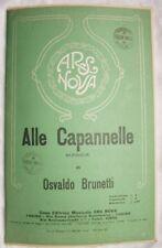 1930 BRUNETTI ALLE CAPANNELLE SPARTITI MUSICA ORCHESTRA