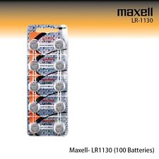 Maxell LR1130 Alkaline 1.5 Volt Battery Hologram (100 Pcs) AG10