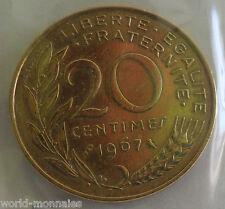 20 centimes marianne 1967 : SUP : pièce de monnaie française