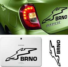 Sticker Vinilo - BRNO Circuit - Vinyl - Car Tunnig - Pegatina - Wall Decall