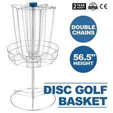 Disc Golf Catcher Basket Target Portable Steel Chain Practice Frisbee Hole
