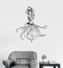Vinyl Wall Decal Belly Dance Sexy Dancer Girl Beautiful Woman Stickers (984ig)