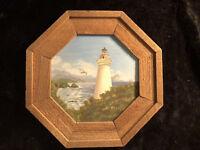 Eileen Thompson (United States, 1924 - 2014) Acrylic Lighthouse Painting