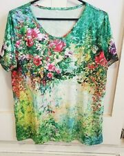 Woman's Summer Scoop Neck Top Blouse Size LARGE  #4