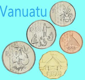 Vanuatu 🇻🇺Islands coins 2015 - choose from list 5 10 20 50 100 Vatu UNC F.bag